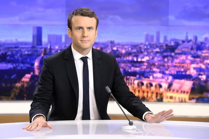 Emmanuel Macron, le 25 avril, sur le plateau du journal de 20 heures de France 2.