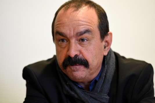 Philippe Martinez, secrétaire général de la CGT, le 29 mars à Paris.