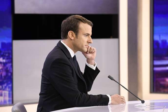 Emmanuel Macron le 25avril à Paris.