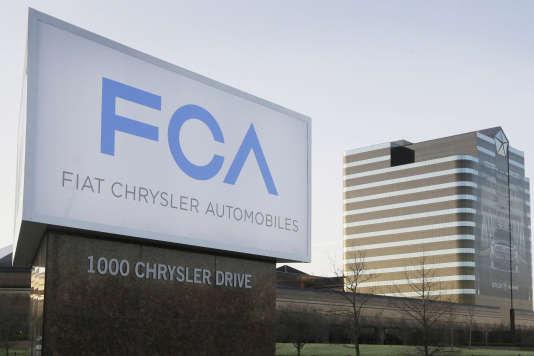 Un des sièges de Fiat Chrysler dans le Michigan.