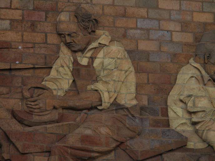 Façade du Musée de la poterie, Stoke on Trent, Royaume-Uni.
