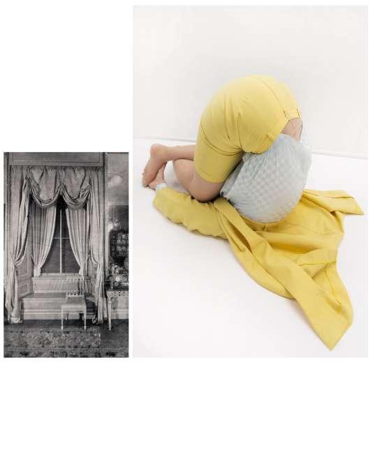 Après avoir photographié ses modèles, l'artiste a associé à ses clichés de femmes débridées des images d'intérieurs tirées dumanuel de la parfaite ménagère dont elle s'est inspirée.