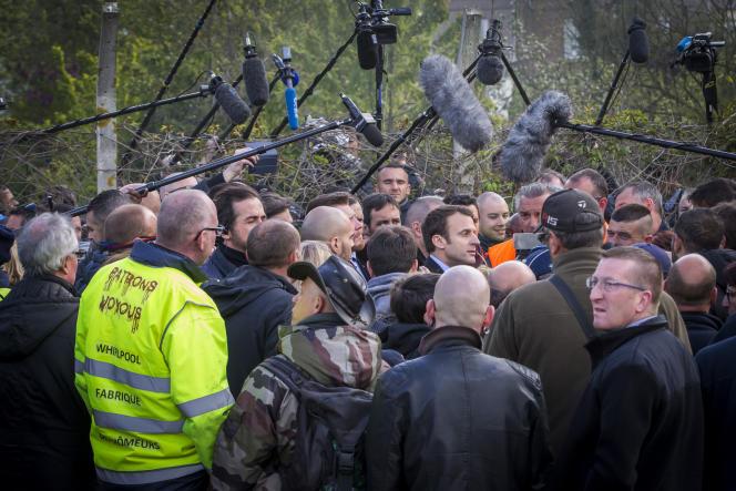 Emmanuel Macron à Amiens, le mercredi 26 avril.