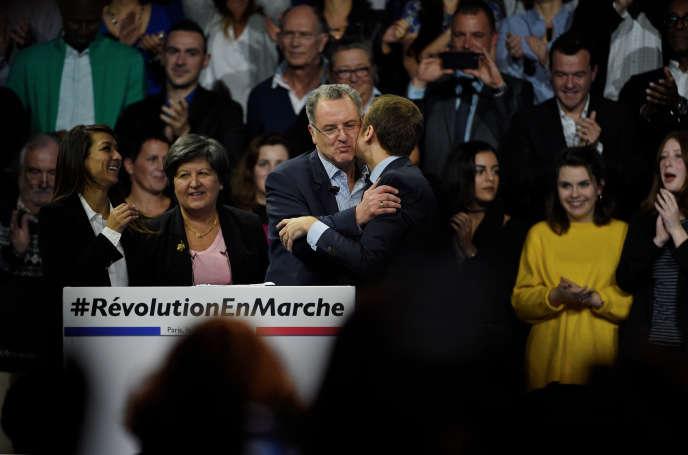 Meeting d'En marche ! avec Emmanuel Macron, à Paris, le 10 décembre 2016.