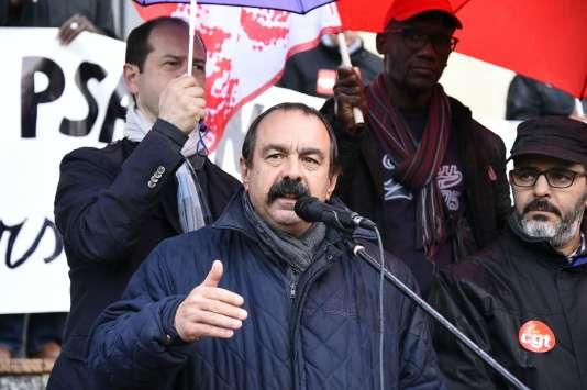Philippe Martinez (CGT), à Aulnay-sous-Bois, le 26 avril.