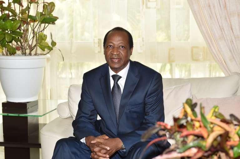 Blaise Compaoré, l'ancien président du Burkina Faso, en octobre 2016 en Côte d'Ivoire.