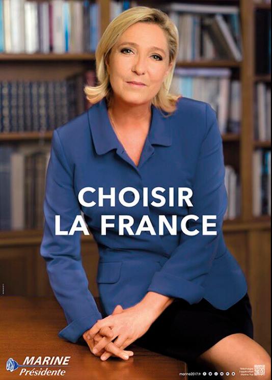 Affiche de campagne de Marine Le Pen pour le second tour de l'élection présidentielle.