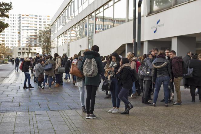Des étudiants de l'université de Strasbourg.