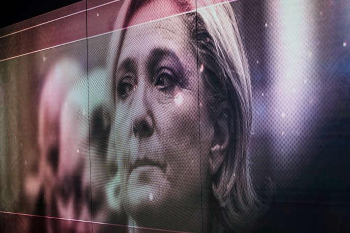 Marine Le Pen lors de l'émission« Elysée 2017», diffusée par TF1 le 25 avril.