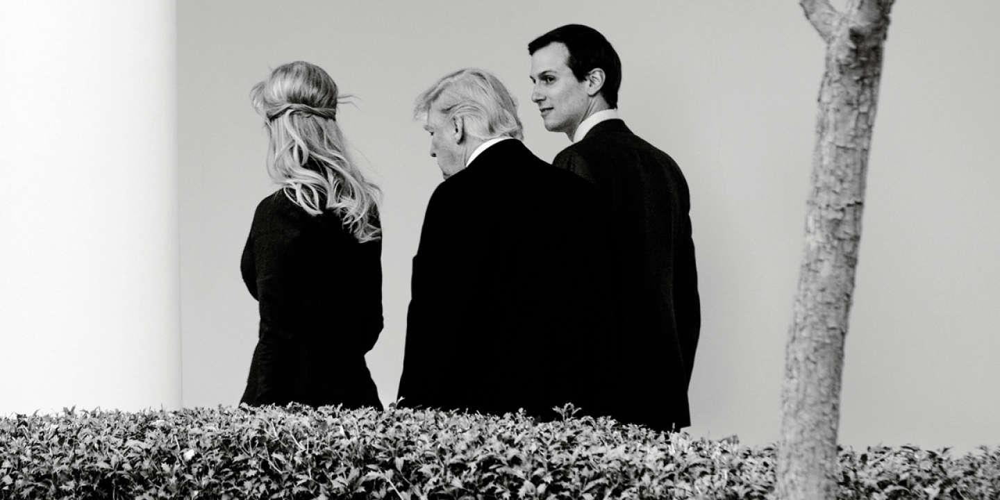 FILE-- Jared Kushner, ri ,t, a s ,ior White House adviser, talks with President Donald Trump and his wife, Ivanka Trump, as they walk through the colonnade to the Oval Office of the White House, in Washington, March 17, 2017. Senate investigators plan to question Kushner, Trump's son-in-law and a close adviser, as part of their broad inquiry into ties between Trump associates and Russian officials or others linked to the Kremlin, according to administration and congressional officials. *** Local Caption *** Photo d'archive 2017  TRP100 NORTH AMERICA WASHINGTON POLITICS GOVERNMENT REPUBLICAN GOP RUSSIA SENATE INTELLIGENCE INTERNATIONAL RELATIONS ADMINISTRATION INVESTIGATION COMMUNICATIONS