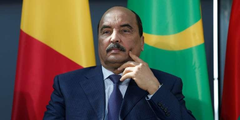 Le président mauritanien, Mohamed Ould Abdel Aziz, à l'Institut du monde arabe, à Paris, le 13 avril 2017.