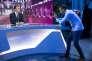 Emmanuel Macron participe à l'émission Elysée 2017 sur TF1, le 27 avril.