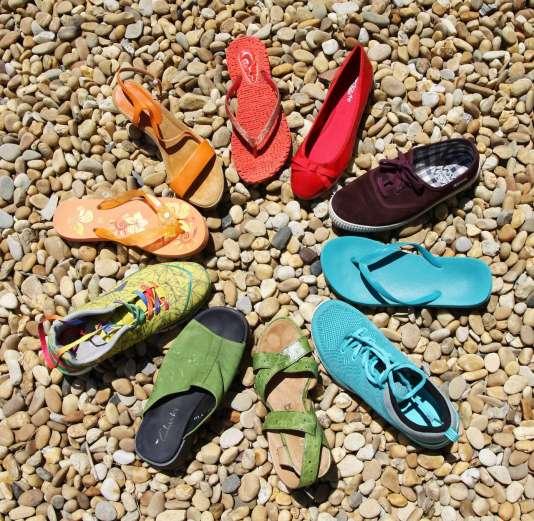Les chaussures de la diversité.