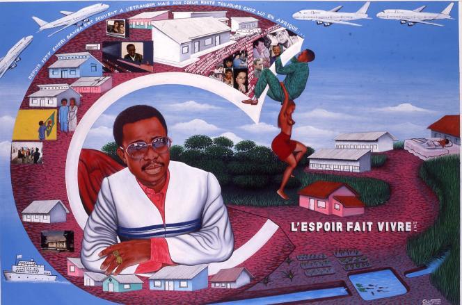 «L'espoir fait vivre n°2» par Chéri Samba (1997).