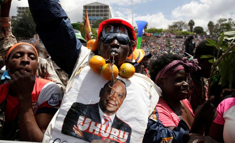 Un supporteur du présidentUhuru Kenyatta, le 27 avril à Nairobi.