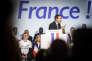 Emmanuel Macron, candidat d'En Marche !, lors d'un meeting de campagne à Arras, le 26 avril 2017.
