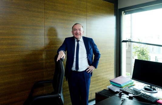 Pierre Gattaz, le patron du Medef, au siège de l'organisation patronale, à Paris, le 24avril.