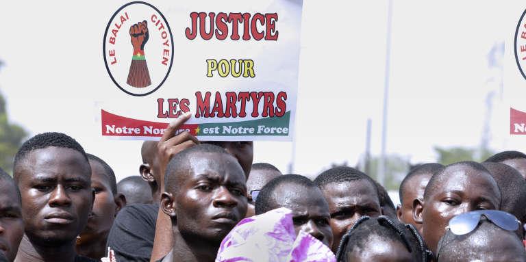 Manifestation à Ouagadougou, le 31 octobre 2016, pour célébrer le second anniversaire de la chute de Blaise Compaoré.
