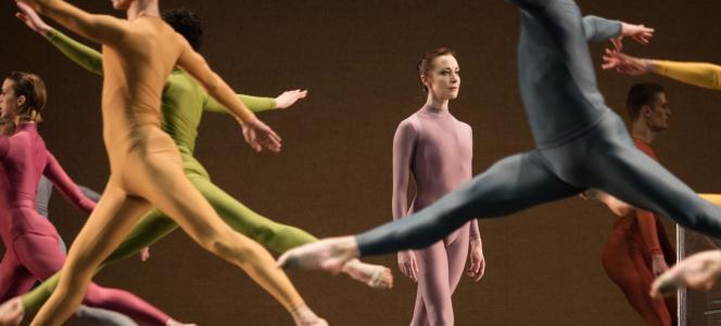 Les danseurs de «Walkaround Time», créé par Merce Cunningham en mars 1968.