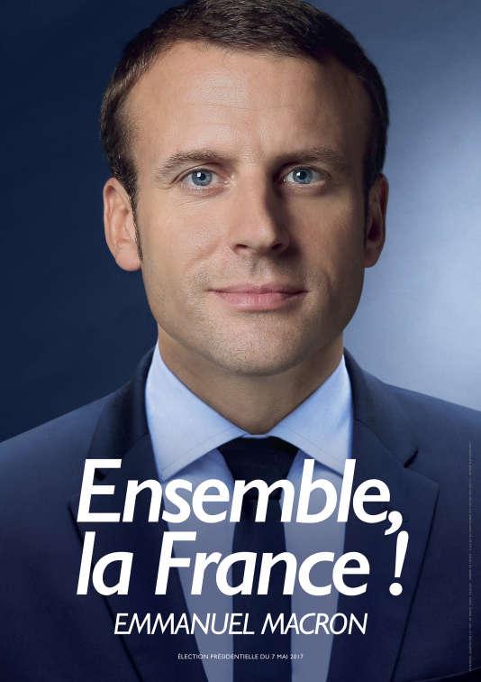 Affiche officielle pour la campagne d'Emmanuel Macron pour le second tour de l'élection présidentielle de 2017.