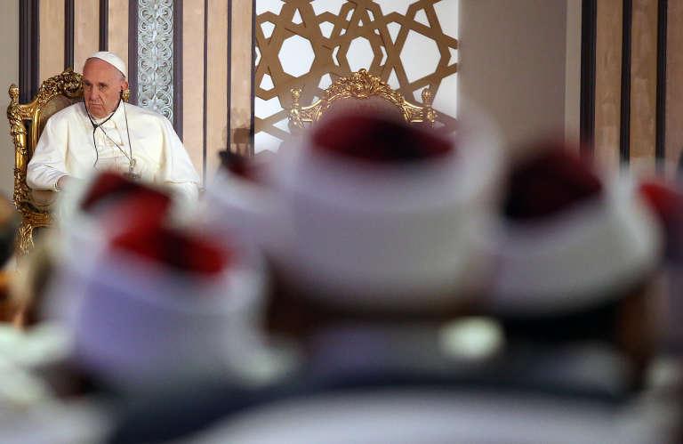 Le Pape à la mosquée Al-Azhar du Caire le 28 avril.
