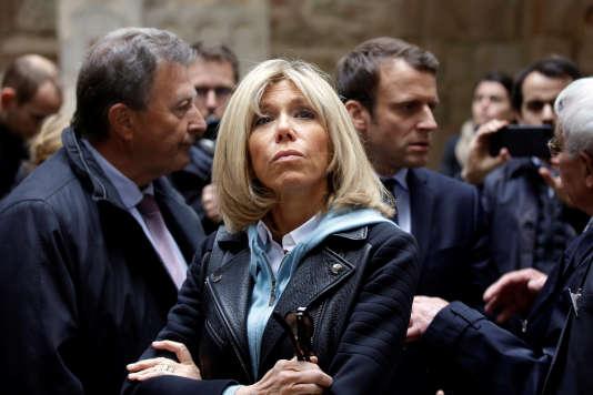 Brigitte Macron à Oradour-sur-Glane, en Haute-Vienne, le 28 avril.
