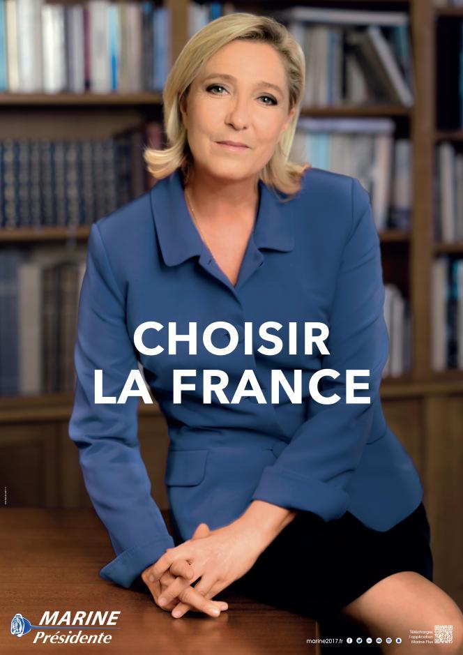 Affiche officielle pour la campagne de Marine Le Pen pour le second tour de l'élection présidentielle de 2017.