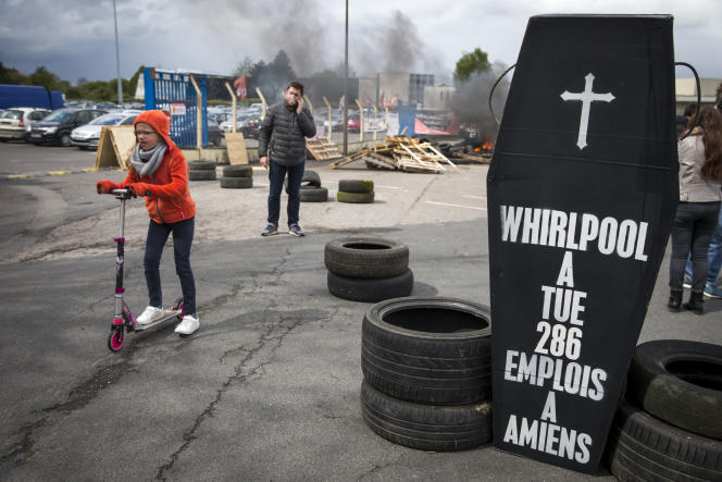 Site Whirpool à Amiens, le 26 avril 2017.