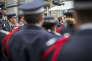 Emmanuel Macron, lors de l'hommage à Xavier Jugelé, à la Préfecture de police de Paris, le 25 avril.