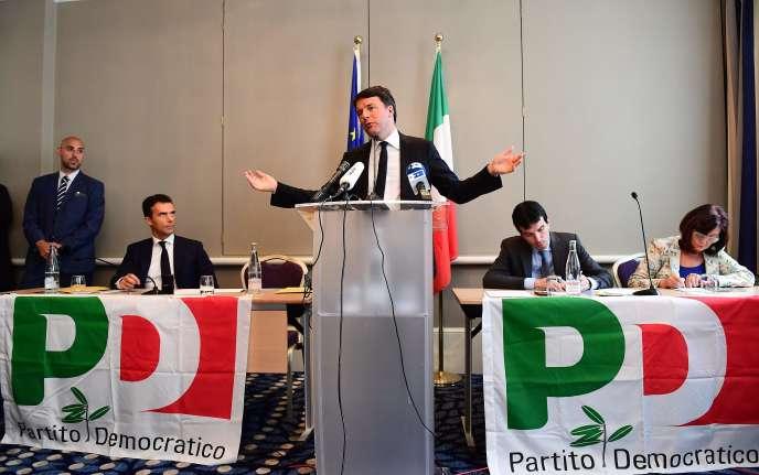 Matteo Renzi, le 28 avril à Bruxelles.