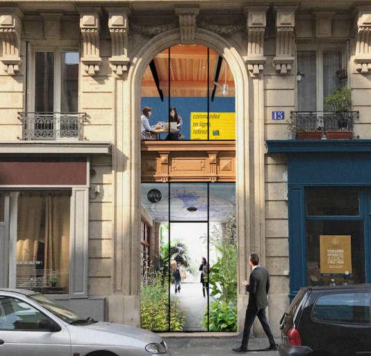Les agences MAJMA et MNAi proposent de faire des halls d'immeubles, des espaces contributifs pour les habitants.