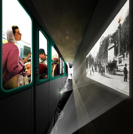Rame de métro de la ligne 6 que le collectifS'il te plait Architecturepropose de transformer en «Wagon- Mouche».