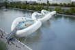 Conçu par Grégoire Zündel, un pont trampoline qui pourrait enjamber la Seine lors d'événements festifs et ludiques