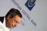 Le président de la Banque centrale européenne (BCE), Mario Draghi, lors d'une conférence de presse après la réunion du conseil des gouverneurs de l'institution de Francfot, le 27 avril.
