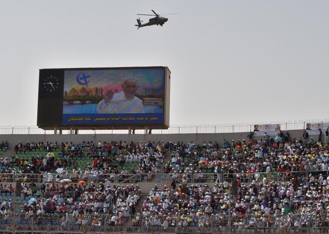 Au second jour de la visite du pape François en Egypte, le 29avril 2017.