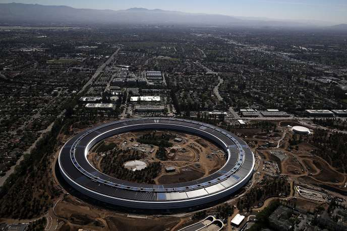 Le siège d'Apple, à Cupertino (Californie), le 28 avril 2017.