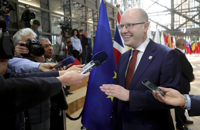 Le premier ministre tchèque, Bohuslav Sobotka, au sommet européen de Bruxelles, le 29 avril 2017.