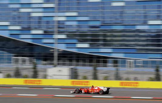 Sebastian Vettel a réussi la pole position du Grand Prix de Russie samedi à Sotchi.