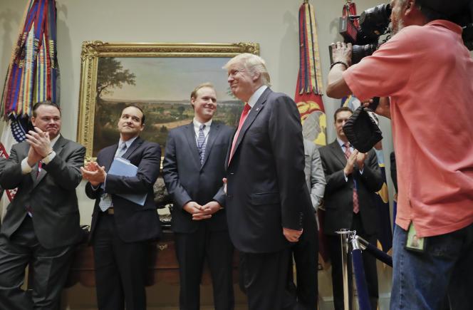 Donald Trump à Washington, le 28 avril.