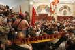 Des manifestants dans l'enceinte du Parlement de Macédoine, le 27 avril, à Skopje.