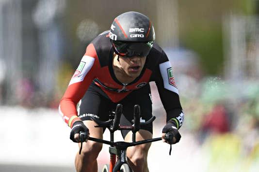 Le vainqueur du 71e Tour de Romandie, Richie Porte, de l'équipe BMC Racing, à Lausanne, en Suisse, le 30 avril.