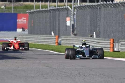 Valtteri Bottas s'est imposé lors du Grand Prix de Russie dimanche.