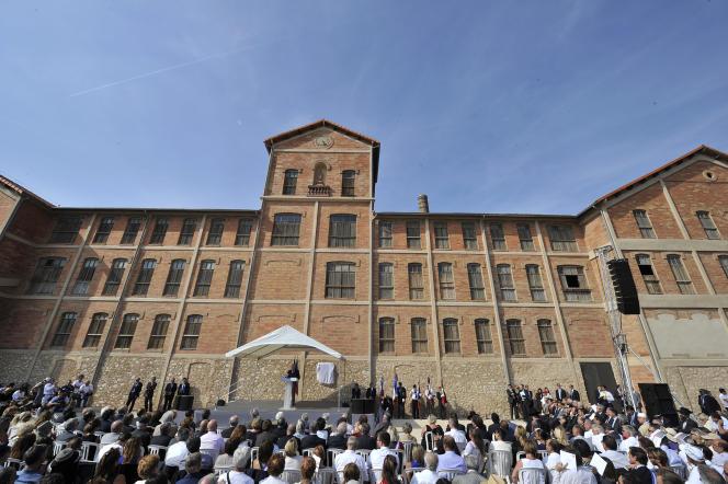 Inauguration du mémorial du camp des Milles, le 10 septembre 2012.