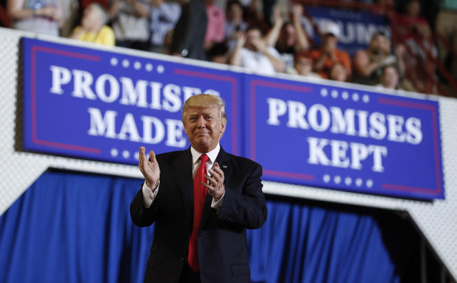 Pour son centième jour à la tête des Etats-Unis, le 29 avril, Donald Trump a rejoint ses partisans réunis à Harrisburg, en Pennsylvanie.