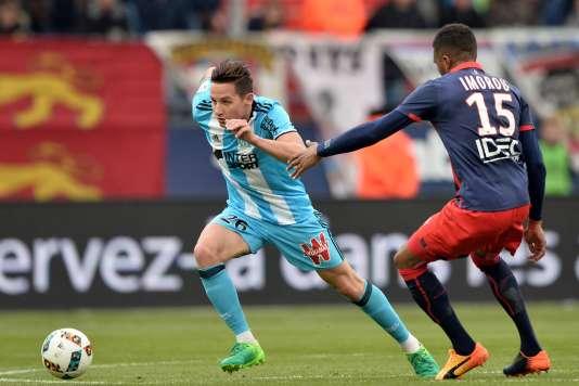 Florian Thauvin a réussi un triplé pour Marseille à Caen dimanche.