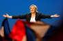 La présidente du Front national, Marine Le Pen, à Villepinte (Seine-Saint-denis), le 1er mai.