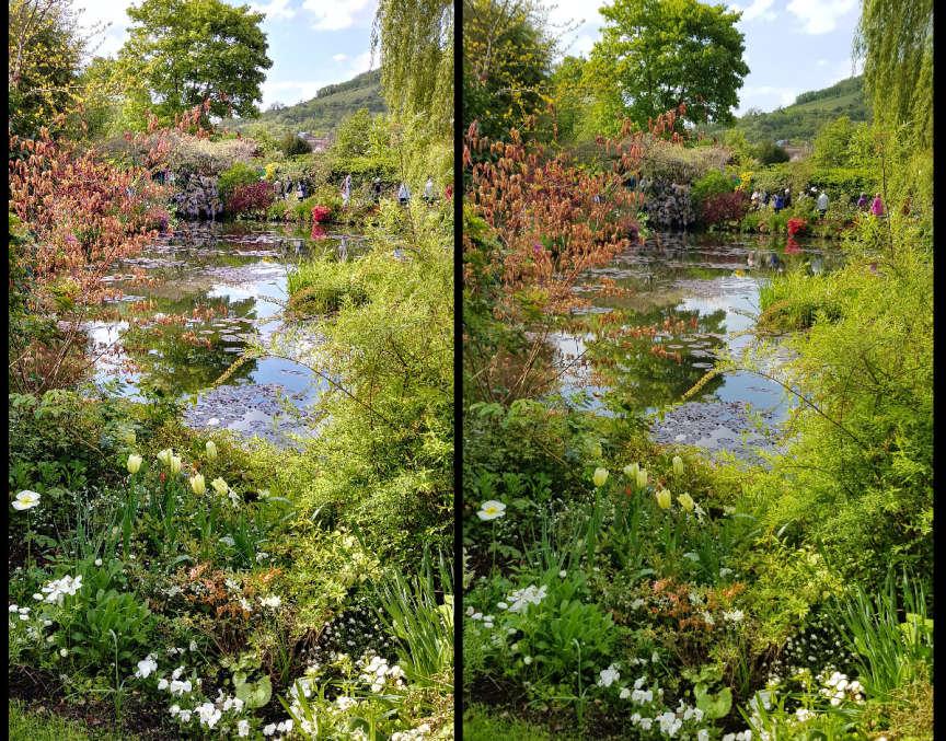 L'image trop nette du LG (à gauche) contre celle du Samsung.