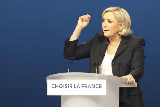 Marine Le Pen, le 1er mai 2017.
