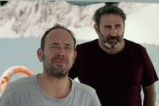 Olivier Gourmet et Sergi Lopez dans le film belge de Marion Hänsel,«En amont du fleuve».