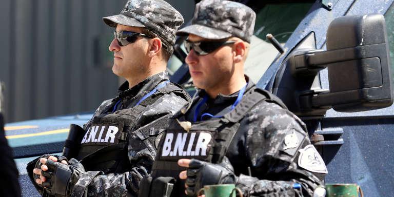 Des policiers tunisiens le 5 avril 2017 à Tunis.